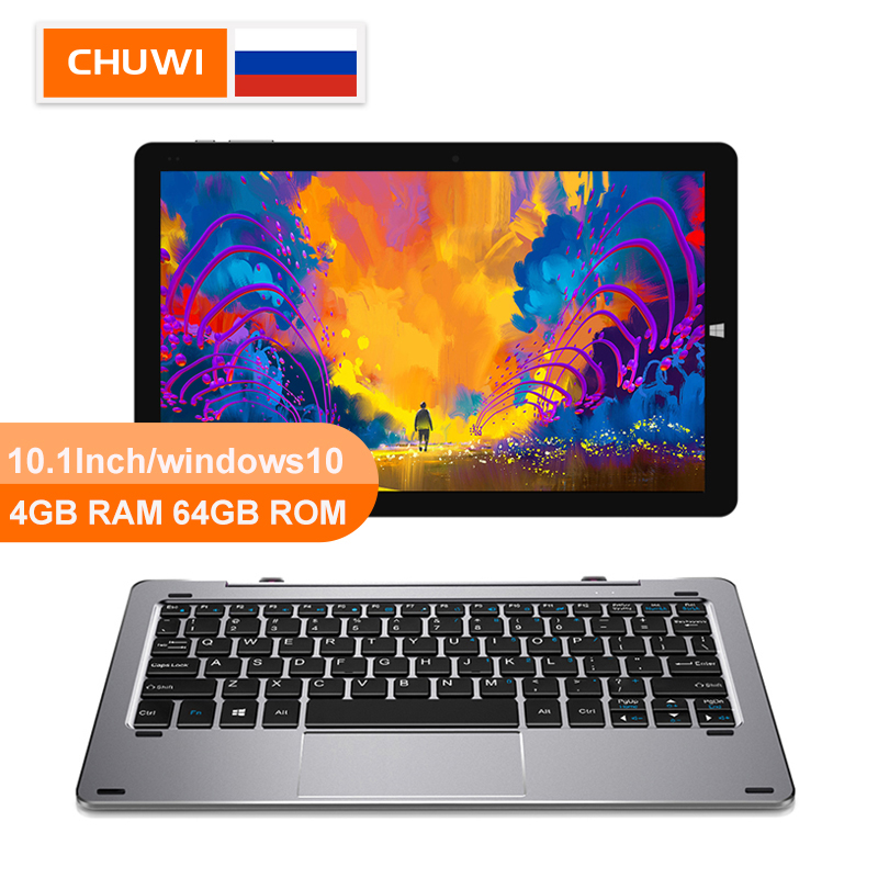 CHUWI Original Hi10 Windows10 Ar 10.1 polegada tablet PC Intel Cereja Trail-T3 64 Z8350 Quad Core 4GB RAM GB ROM-Tipo C 2 em 1 Tablet