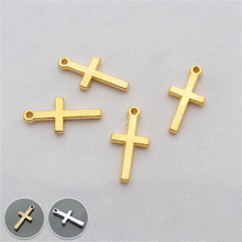 (29267)50PCS 19*9MM Gold Color Plated Zinc Alloy Cross Charms Pendants Diy Handmade Jewelry Findings Accessories Wholesale недорого