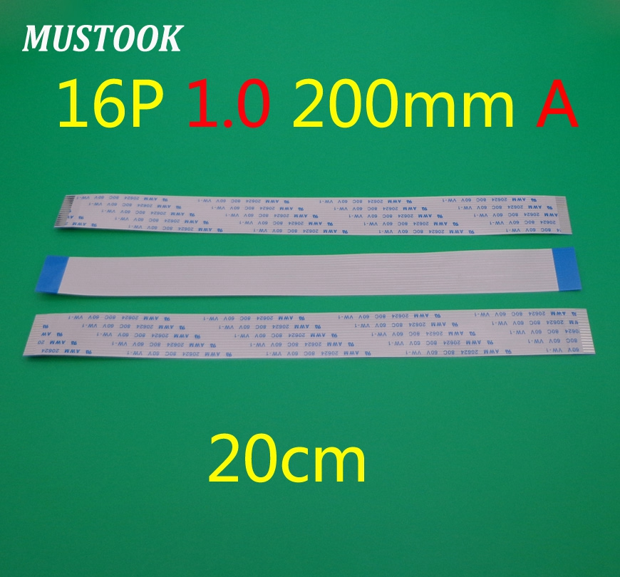 20X New FFC FPC Flat Flexible Cable 1.0mm Pitch 16 Pin 16pin Forward Length 200mm Width 17mm Ribbon Flex Cable