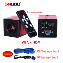 Professional Lab biological HD trinocular microscope zoom 2500X  + USB HDMI VGA CVBS electronic digital CCD Camera + 8-inch LCD