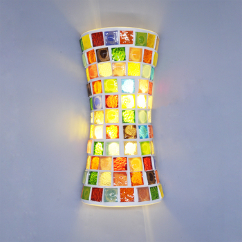 Artpad Retro Wall Lamps Indoor For Living Room Bedroom 110V 220V With 2PCS E14 Bulbs Tiffany Led Sconce Wall Lights Vintage