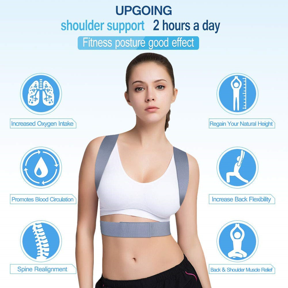 Adjustable Posture Corrector Belt for Clavicle and Spine Support Helps to Relief Back Pain Suitable for Unisex 5