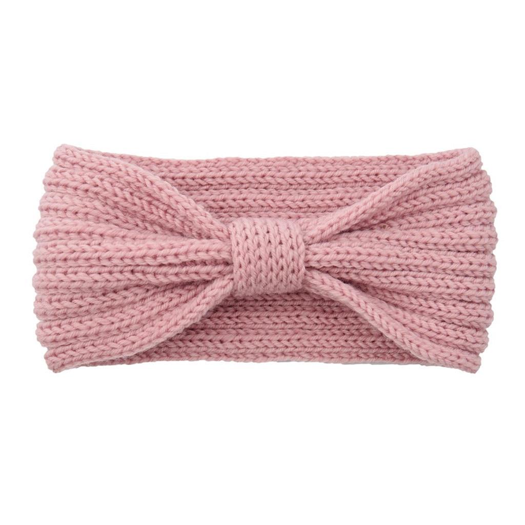 Fashion Fashion Knitting Wool Women Headbands Sweet Winter Warm Hair Band Laides Solid Color Sweet Handmade Cotton Hairband Girl