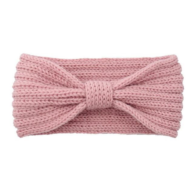 Fashion Fashion Knitting Wool Women Headbands Sweet Winter Warm Hair Band Laides Solid Color Sweet Handmade