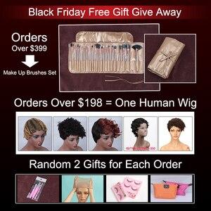 Image 2 - Rebecca 613 sarışın demetleri ile Frontal İnsan saç demetleri sarışın malezya düz saç 3 demetleri ile Frontal kapatma
