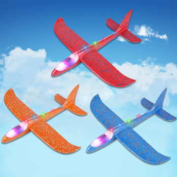 48 CM Hand Throw Airplane EPP Foam Launch fly Glider Planes Model Aircraft Outdoor Fun Toys for Children Party Game 2
