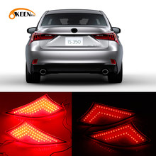 2 Pcs Led Rear Bumper Reflector Licht Voor Lexus IS250 IS300 IS350 2014 2015 2016 Rode Auto Drive Brake Fog trim Staart Lamp(China)