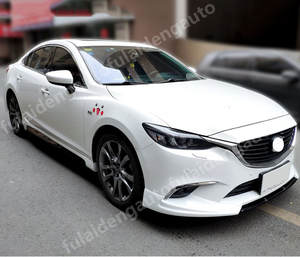 Image 2 - For Mazda 6 M6 Atenza 2014 2018 New Unpainted Side Skirt Extension Bumper Lip Body kit car styling accessories
