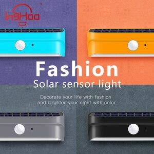 Inghoo модный светодиодный настенный светильник на солнечной батарее, открытый водонепроницаемый многоцветный энергосберегающий светильник...