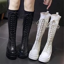 2021 г Новые весенние сапоги женские высокие до колена модные