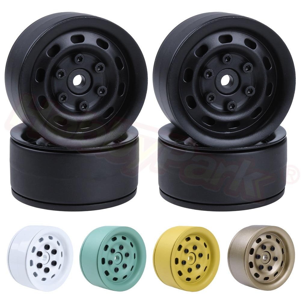 "4Pcs Aluminum 1.9/"" Beadlock Wheel Rims for 1//10 RC Rock crawler D90 SCX10 CC01"