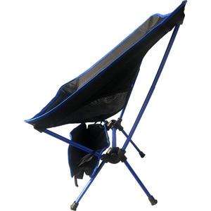 Image 2 - 휴대용 가벼운 무게 접는 캠핑 의자 의자 좌석 낚시 축제 피크닉 바베큐 비치 가방 오렌지 블루 레드 스카이 블루