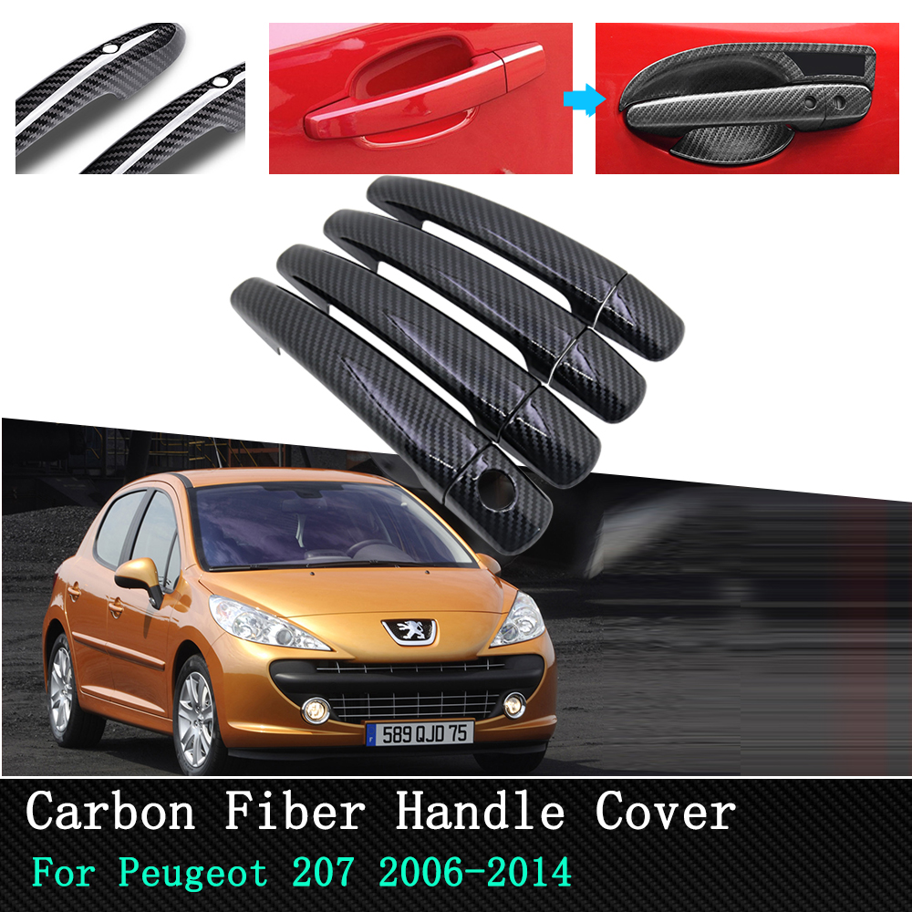 Details about  /3D Carbon Fiber Silver Vinyl Door Handle Cover Film Exterior Decals Stickers J2