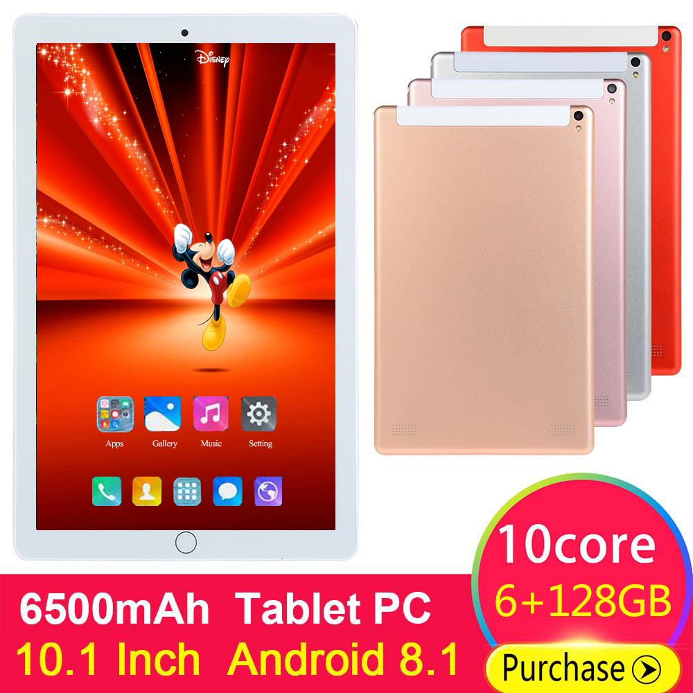 2020 New 10 Inch Octa Core Tablet Pc 6GB RAM 128GB ROM 1920*1200 Dual Cameras Android 8.0 4G LTE Tablets 10.1 Inch Kids Tablet