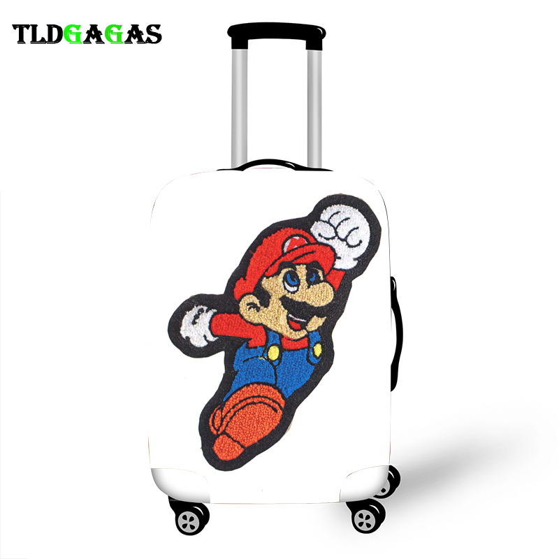 Elastic Luggage Protective Cover Case For Suitcase Protective Cover Trolley Cases Covers 3D Travel Accessories Brother Pattern T