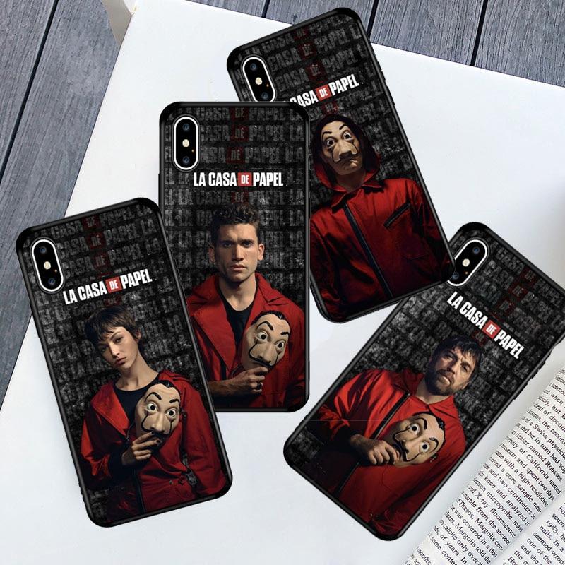 Nairobi Berlin Denver TPU Phone Case for IPhone 11 11Pro X XR XS Max 6s 7 8 Plus SE 2020 Money Heist House Paper TV-Show Cover