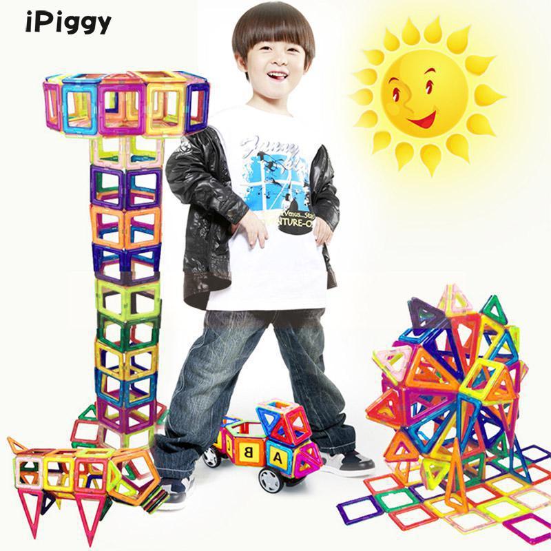 Nouveau 92 pièces Mini modèle 3D aimant Construction blocs de Construction magnétiques jouets ensemble tôt éclairer jouets éducatifs pour enfants cadeau