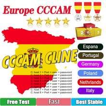 Europa cable CCAM Clines para receptor de tv por satélite 6/7 Clines WIFI FULL HD DVB-S2 apoyo España CCAMs Server para libera
