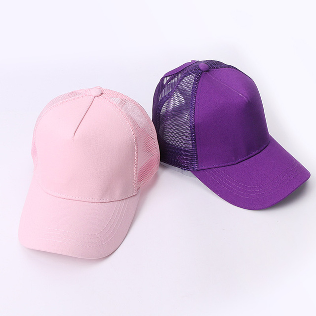 New Baseball Caps Mesh Spring Summer Outdoor Sprot Hat With Ponytail Hole Breathable Snapback Adjustable Caps For Men And Women 4