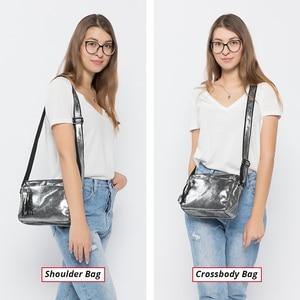 Image 2 - REALER genuine leather crossbody bags for women 2020 tassel shoulder messenger bag  ladies fashion purses and handbags design