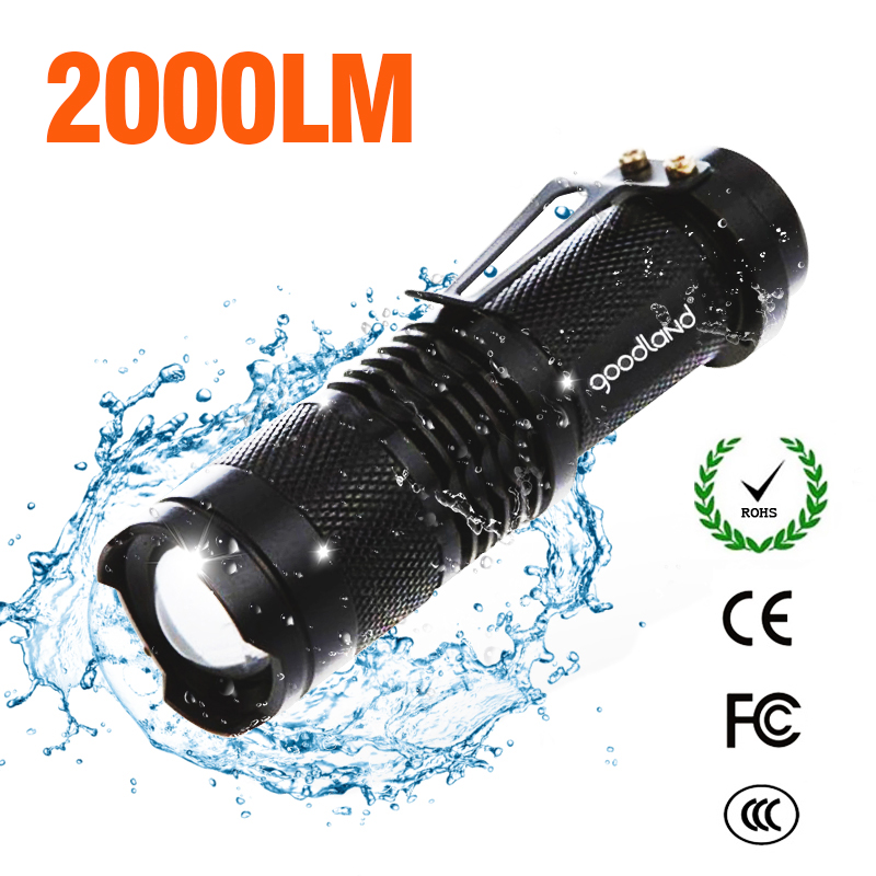 Flashlight High Power Rechargeable Lantern Waterproof LED Torch Q5 14500 Battery Powered For Outdoor Hiking Camping Hunting