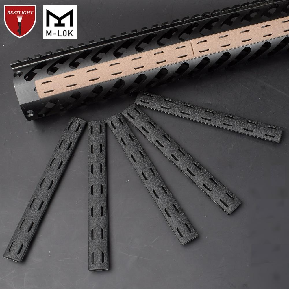 5PCS BCM M Lok Rail Cover Panel Kit For Mlok Handguard Free Float Handguard Airsoft 140*16mm(China)