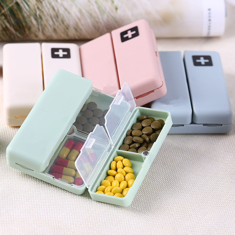 7 days weekly foldable travel pill box and medicine holder for tablet storage