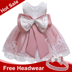 Платье для маленьких девочек для новорожденных детей кружевной платье принцессы для маленьких девочек от 2 до 7 лет, платье на день рождения ...