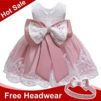 Dziewczynek sukienka noworodka koronkowe sukienki księżniczki dla dziewczynek 2 1 rok sukienka urodzinowa kostium wielkanocny sukienka dla niemowląt