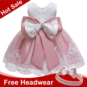 Summer Baby Girls Dress Newborn Baby Lace Princess Dresses For Baby 2 1st Year Birthday Dress Easter Costume Infant Party Dress(China)
