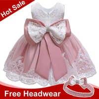 Verão bebê meninas vestido de bebê recém-nascido rendas princesa vestidos para o bebê 2 1st ano vestido de aniversário traje de páscoa infantil vestido de festa