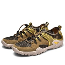 Outdoor sports shoes mens summer 2020 leather casual non-slip breathable youth hiking beach