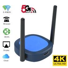 4K 5G אלחוטי WiFi תצוגת Dongle טלוויזיה מקל HDMI מראה Miracast Airplay DLNA מקלט מתאם עבור Iphone אנדרואיד טלפון Tablet