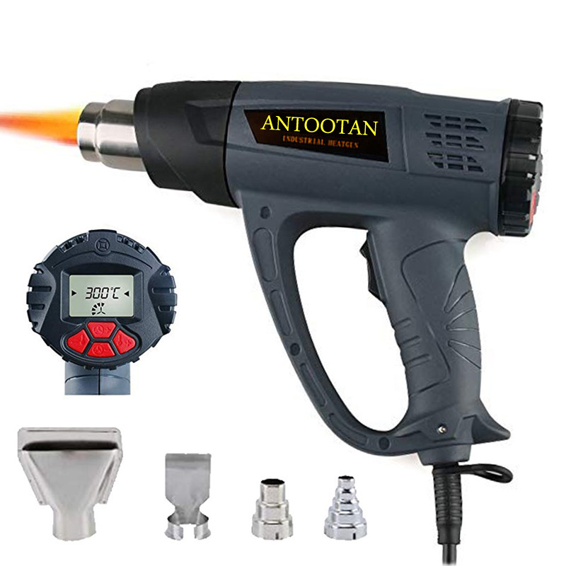 Heat Gun Hot Air Blower Tablet  Heat Gun With LCD Display 2000W Wireless Heat Gun Wind Control Memory Function Hot Air Gun Kits