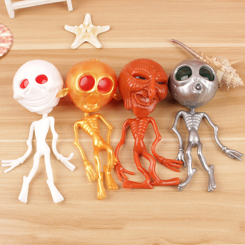1pc Squish Toys For Children  Ghost Head Aliens Anti-stress Depresstion Queezing Toys For Kids And Children