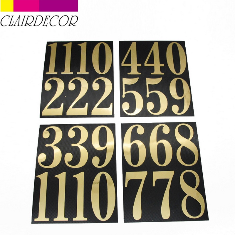 ADHESIVE NUMBERS SET adhesive mylar numbers provide an easy stick on application and are ideal solution for many projects