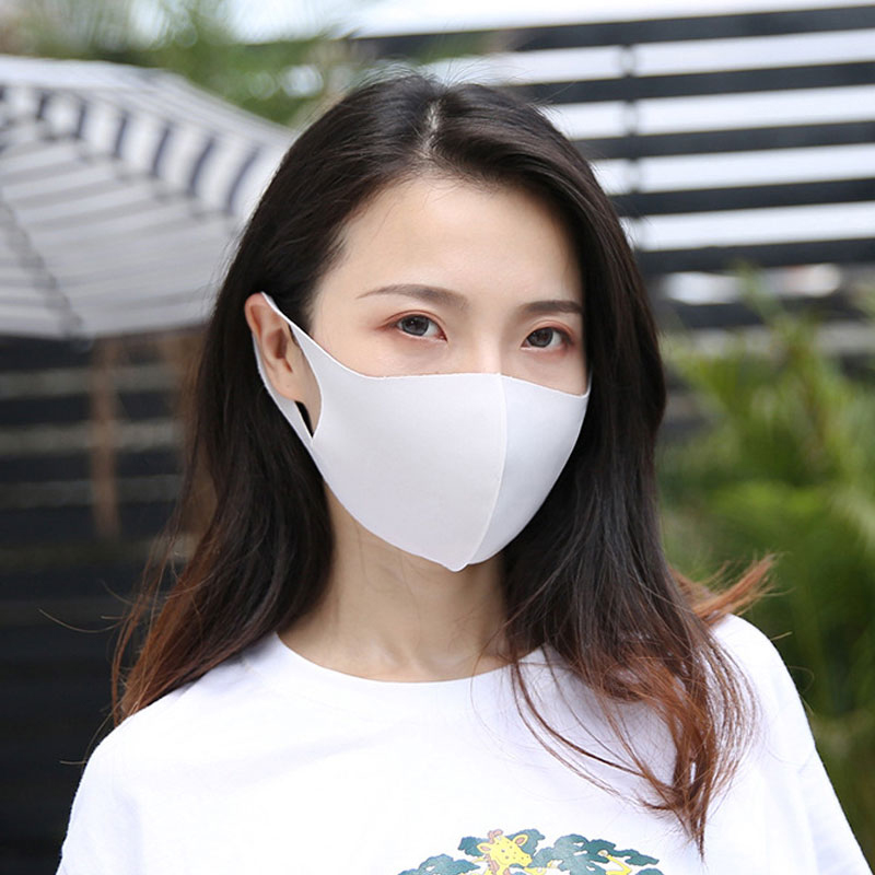 Ice Silk Cotton  Mouth Mask Breathable Unisex Face Mask Anti Pollution Face Shield Black White Pink Blue Mouth Mask 2020 New