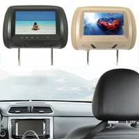 7 inch TFT LED screen Car Monitors MP5 player Headrest monitor Support AV/USB/SD input/FM/Speaker/Car camera DVD Display Video 5