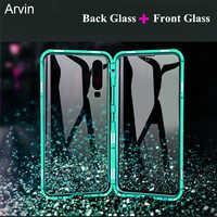 Arvin étui magnétique pour OPPO Realme X2 Pro Ace K5 XT 730G étui 9H Double verre anti-déflagrant 360 couvercle de Protection complet