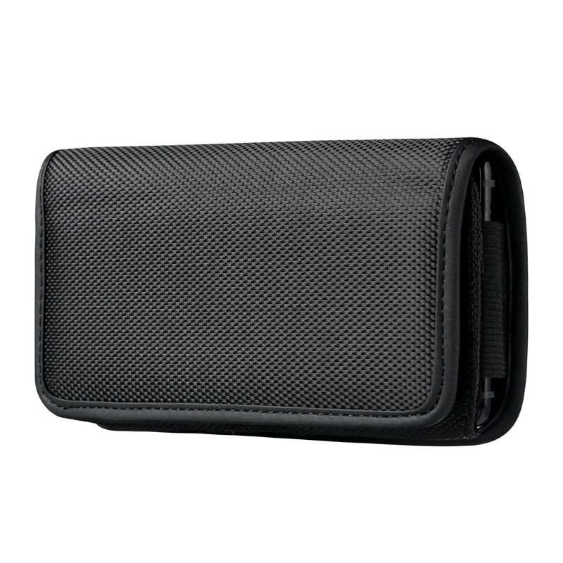 Horizontal Nylon Belt Loops Cellphone Holster Holder Carrying Case Sleeve Pouch For Men A69C