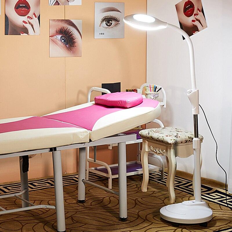 110 V/220 V Pro 8X Diottrica 120 LED Ingrandimento Stand Da Pavimento Lampada Lente di Ingrandimento di Vetro Len Viso Luce Per salone di bellezza Del Chiodo Del Tatuaggio