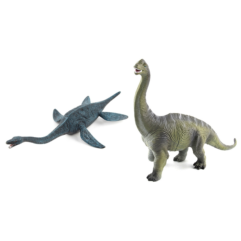 2Pcs Big Size Jurassic Wildlife Plesiosaur Dinosaur Toy Plastic Play Toys World Park Dinosaur Model Action Figures Kids Boy Gift