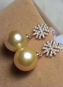 >>>> 18K 10-11 MM boucles d'oreilles en perles de tahiti akoya naturelles