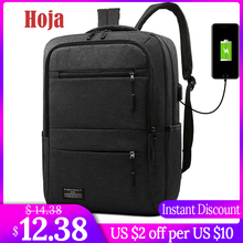 цена на New 15.6 Inch Men Laptop Backpack Business Backpack Usb Charging Computer Backpacks Travel Large Capacity Nylon Men Bag
