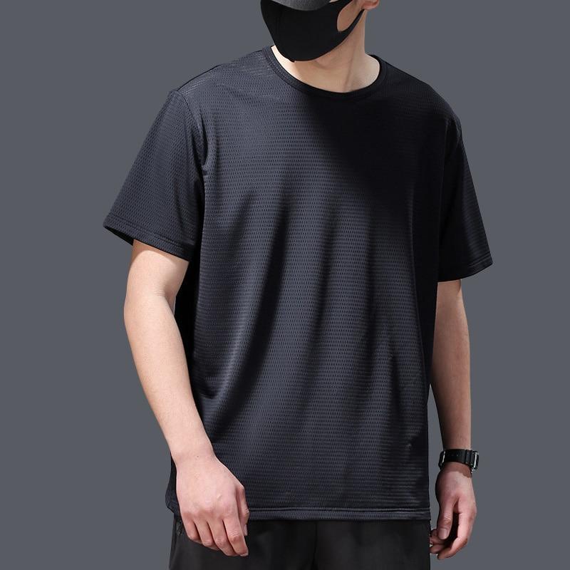 2020 Tshirt Men Viscose Fiber Short Sleeve Men s Summer Thin Mesh Quick Drying T shirt