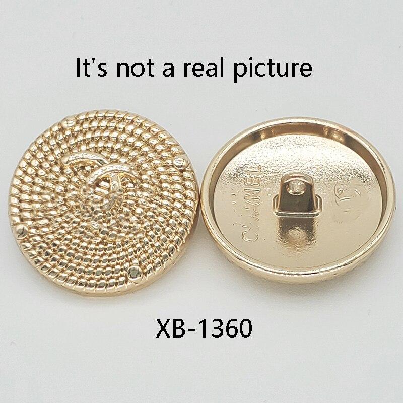10 шт./лот круглая металлическая кнопка с логотипом «сделай сам» для швейных принадлежностей на задней стороне