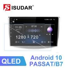 Isudar v72 android 10.0 rádio do carro para vw/volkswagen/passat b7 b6 cc dvd player multimídia de áudio ram 4gb rom 128g dsp fm nenhum 2din