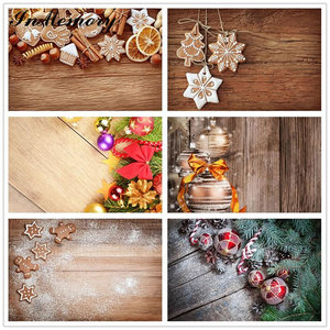 InMemory 90x60cm Christmas wood Backdrops for Photo Small Size Christmas Gift Photography Background Holiday Photophone