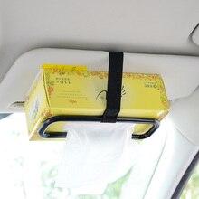 Universal Car Tissue Box Holder Accessories Auto Sun Visor Napkin Paper Hanging Seat Back Bracket Clip Fashion Interior Storage