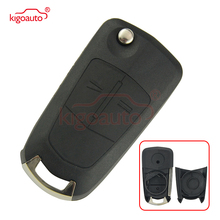 Flip key shell HU100 for Opel Vauxhall Astra H Corsa D Vectra C Zafira folding remote key case 2 button kigoauto flip remote car key shell case 2 button for vauxhall opel corsa astra h zafira b vectra key cover remtekey